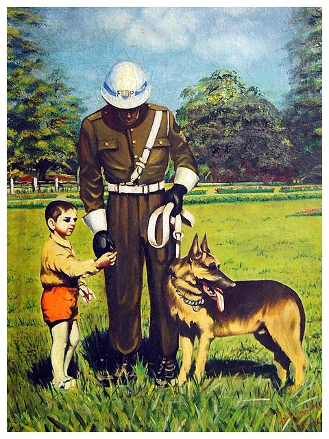 Ilustração do Soldado, Eduardinho e Cabo Dick.